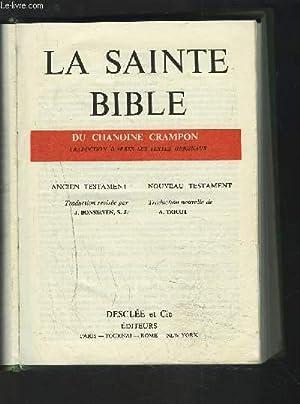 LA SAINTE BIBLE - DU CHANOINE CRAMPON.: BONSIRVEN J. /