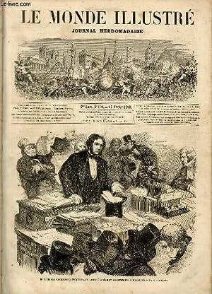 LE MONDE ILLUSTRE N°150 M. Gladstone, chancelier de l'échiquier, présentant à la chambre des ...
