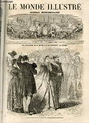 LE MONDE ILLUSTRE N°179 L'empereur et l'impératrice parcourant les rues de Grenoble le soir...