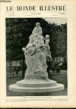 LE MONDE ILLUSTRE N°2568 Le monument d'Alexandre Dumas Fils, par M. de Saint-Marceaux: ...
