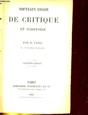 NOUVEAUS ESSAIS DE CRITIQUE ET D'HISTOIRE: H. TAINE