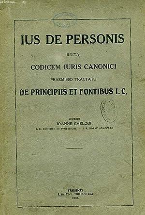 IUS DE PERSONIS, IUXTA CODICEM IURIS CANONICI: CHELODI IOANNE