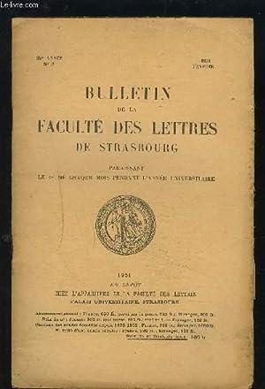 BULLETIN DE LA FACULTE DES LETTRES DE STRASBOURG - N°5, 29° ANNEE, FEVRIER 1951 : Au temps de ...
