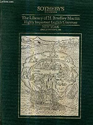 SOTHEBY'S - THE LIBRARY OF H.BRADLEY MARTIN HIGHLY IMPORTANT ENGLISH LITERATURE - NEW YORK ...