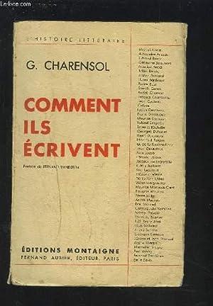 COMMENT ILS ECRIVENT.: CHARENSOL G.