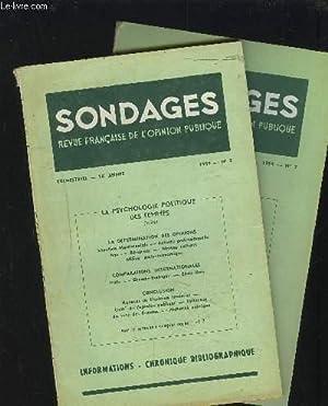 SONDAGES - REVUE N°2+3 / 1954 / 16° ANNEE : LA PSYCHOLOGIE POLITIQUE DES FEMMES - Les faits et la ...