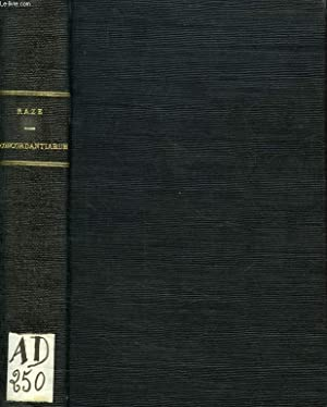 CONCORDANTIARUM SS. SCRIPTURAE MANUALE: RAZE P. DE, LACHAUD P. DE, P. FLANDRIN
