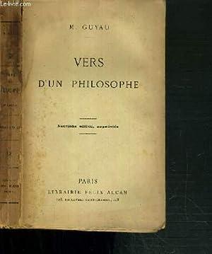 VERS D'UN PHILOSOPHE - 9ème EDITION: GUYAU M.