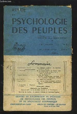 REVUE DE PSYCHOLOGIE DES PEUPLES - Tome: COLLECTIF