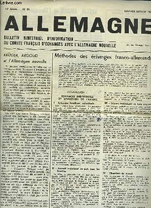 ALLEMAGNE - N°83 - 16° ANNEE : Méthodes des échanges franco-allemands + Kr&...