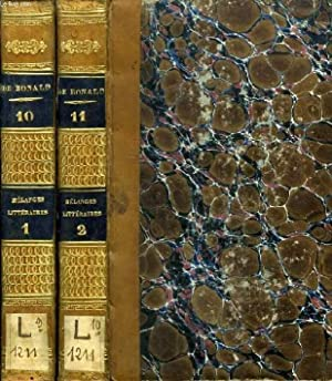 MELANGES LITTERAIRES, POLITIQUES ET PHILOSOPHIQUES, 2 TOMES: BONALD LOUIS DE