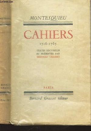 CAHIERS - 1715-1795 -: MONTESQUIEU
