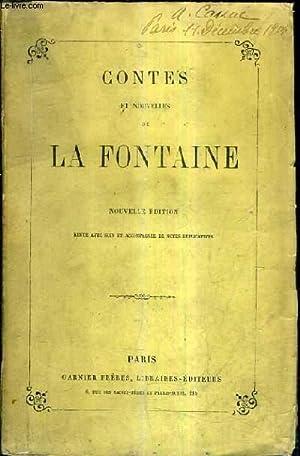 CONTES ET NOUVELLES DE LA FONTAINE / NOUVELLE EDITION REVUE AVEC SOIN ET ACCOMPAGNEE DE NOTES ...