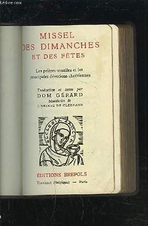 MISSEL DES DIMANCHES ET DES FETES -: GERARD (DOM)