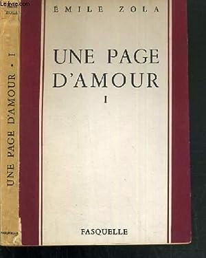 UNE PAGE D'AMOUR - TOME I / LES ROUGON-MACQUART: ZOLA EMILE