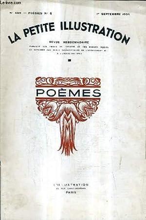 LA PETITE ILLUSTRATION REVUE HEBDOMADAIRE N°689 POESIES N°6 1ER SEPTEMBRE 1934 - le cercle,...