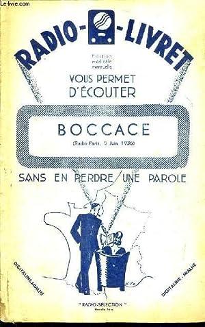 RADIO - LIVRET N°127 4E ANNEE 5 JANVIER 1929 - Boccace opéra comique en trois actes ...