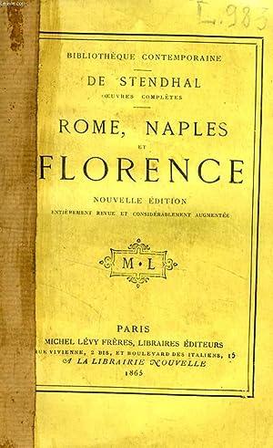 ROME, NAPLES ET FLORENCE: STENDHAL