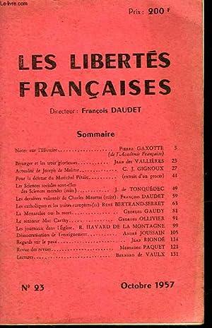 LES LIBERTES FRANCAISES - N°23: COLLECTIF