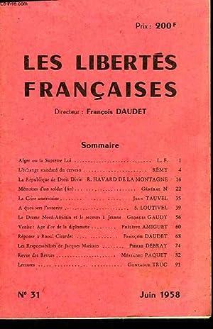 LES LIBERTES FRANCAISES - N°31: COLLECTIF