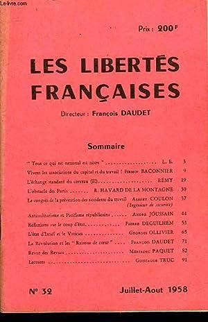 LES LIBERTES FRANCAISES - N°32: COLLECTIF