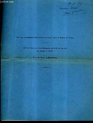 SUR LES PLISSEMENTS SOUTERRAINS DU GAULT DANS LE BASSIN DE PARIS - SUR LA VALEUR DU RETRECISSEMENT ...