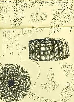 """1 PATRON TIRE DE """"MAGASIN DES DEMOISELLES"""" / AOUT 1861 .: COLLECTIF"""
