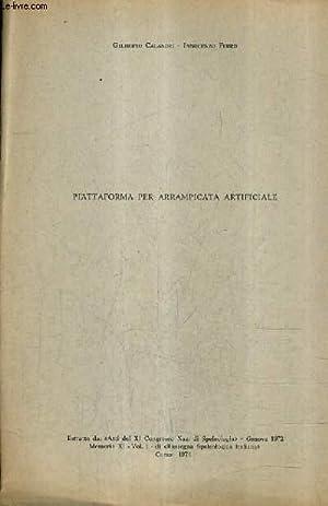PIATTAFORMA PER ARRAMPICATA ARTIFICIALE.: CALANDRI GILBERTO & FERRO INNOCENZO