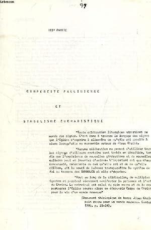 CORPOREITE PAULINIENNE ET SYMBOLISME EUCHARISTIQUE (IIIe PARTIE): COLLECTIF