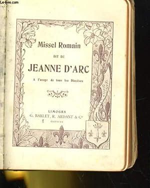 MISSEL ROMAIN DIT DE JEANNE D'ARC. A: COLLECTIF