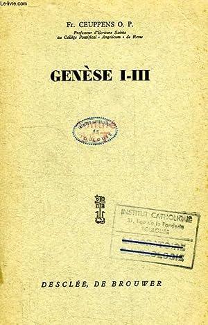 GENESE I-III: CEUPPENS Fr., O. P.