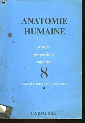 ANATOMIE HUMAINE - ASPECTS PROPORTIONS RAPPORTS - 8 - TRANSPARENTS EN COULEURS: COLLECTIF