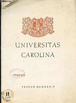 UNIVERSITAS CAROLINA (PLAQUETTE).: COLLECTIF