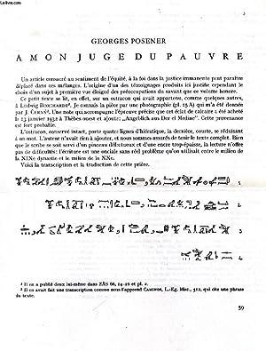 BEITRÄGE SUR ÄGYPTISCHEN BAUFORSCHUNG UND ALTERTUMSKUNDE, HEFT: POSENER Georges