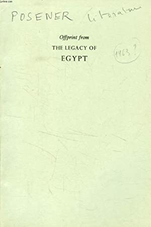 OFFPRINT FROM THE LEGACY OF EGYPT: POSENER Georges