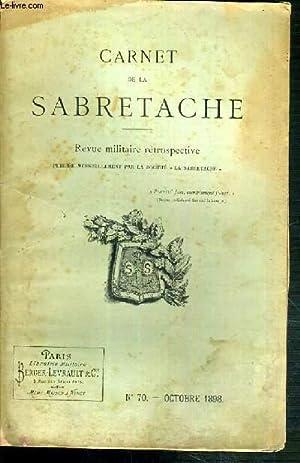 CARNET DE LA SABRETACHE - REVUE MILITAIRE: COLLECTIF