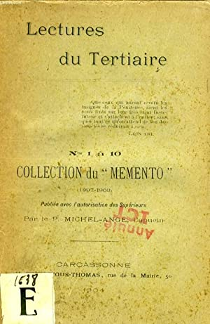LECTURES DU TERTIAIRE, N° 1 à 10, COLLECTION DU 'MEMENTO' (1897-1908): ...