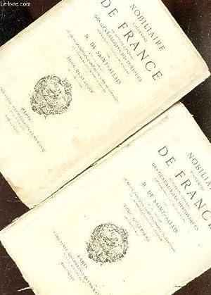 NOBILIAIRE UNIVERSEL DE FRANCE - TOME QUATRIEME - 1ere et 2eme PARTIES / ou recueil general ...