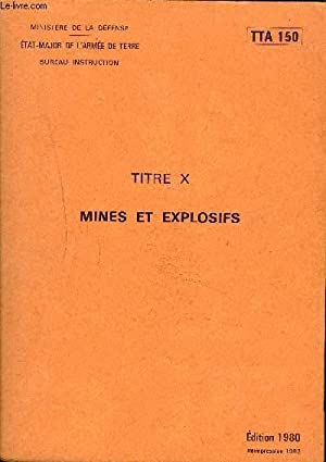 MINES ET EXPLOSIFS - TTA 150.: MINISTERE DE LA