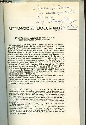 MELANGES ET DOCUMENTS / Une pretendue persecution de Juifs a Moissac sous l'abbatiat de durand ...