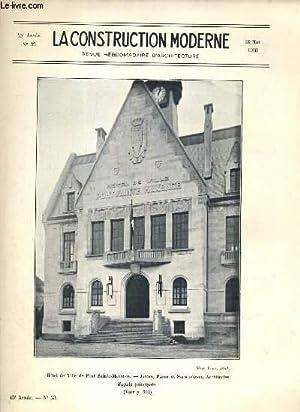 LA CONSTRUCTION MODERNE - 45e VOLUME (1929-1930) - FASCICULE N°33 - HOTEL DE VILLE DE PONT ...