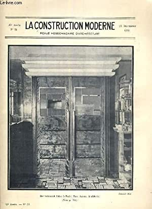 LA CONSTRUCTION MODERNE - 45e VOLUME (1929-1930) - FASCICULE N°51 - L'ARCHITECTURE A L&#...