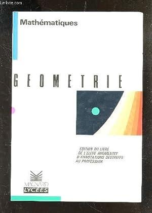 GEOMETRIE - PROBABILITES - MATHEMATIQUES - PREMIERE S-E.: DUMONT / MATZ / GRELET / GUILLAUME / ...