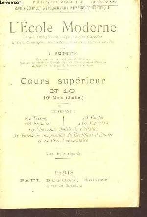 "COURS SUPERIEUR - N°10ter - 28 FEVRIER 1897 / COLLECTION ""L'ECOLE MODERNE""...."