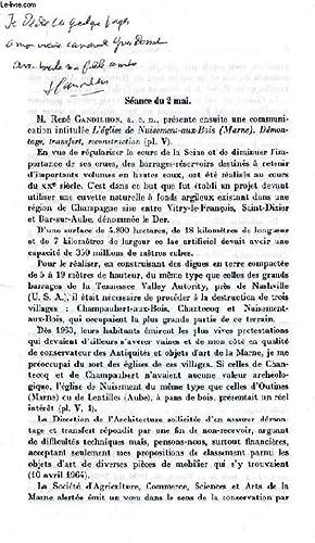 L'EGLISE DE NUISEMENT-AUX-BOIS, DEMONTAGE, TRANSFERT, RECONSTRUCTION (TIRE A PART): GANDILHON ...