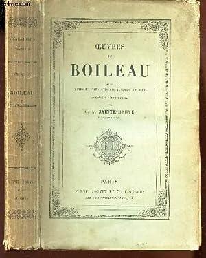 OEUVRES DE BOILEAU - AVEC NOTES ET IMITATIONS DES AUTEURS ANCIENS - PRECEDEE D'UNE NOTICE PAR ...