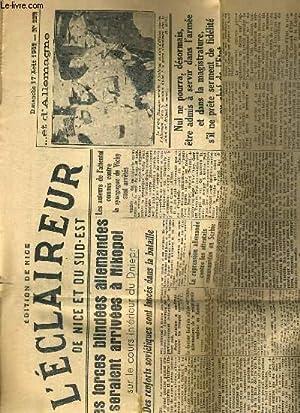 L'ECLAIREUR DE NICE ET DU SUD-EST - N° 229 - DIMANCHE 17 AOUT 1941 - les forces blindees ...
