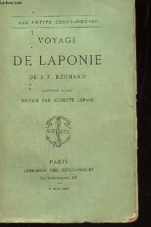 VOYAGE DE LAPONIE / LES PETITS CHEFS D'OEUVRE: REGNARD J.F.