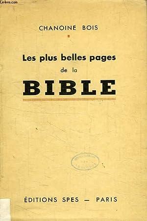 LES PLUS BELLES PAGES DE LA BIBLE: BOIS CHANOINE A.