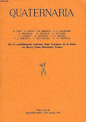 QUATERNARIA, XIV, 1971 (EXTRAIT), SUR LE REMBLAIEMENT: COLLECTIF